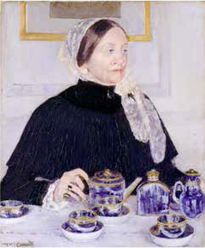 Mary Cassatt, Lady at the tea table 1883-85, huile sur toile, 73,7 x 61 cm New York, Metropolitan Museum of Art