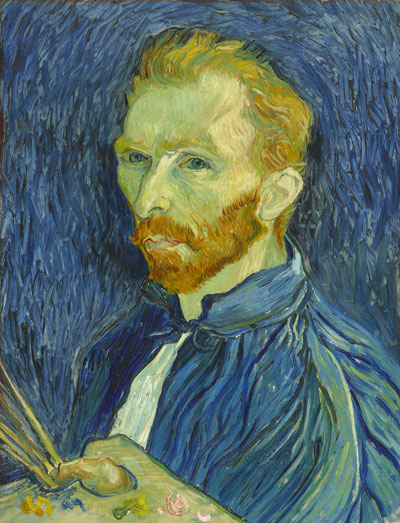 Vincent van Gogh (1853-1890) Autoportrait 1889 Peinture à l'huile sur toile 572 x 438 mm National Gallery of Art, Washington Collection de M. et Mme John Hay Whitney